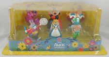 Disney Store Alice In Wonderland PC PVC Figurine Playset Cake Topper Figure Set