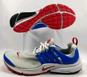 Nike-Air-Presto-Essential-Grey-Red-Blue-Running-848187-004-Size-11-0-WORN-ONCE