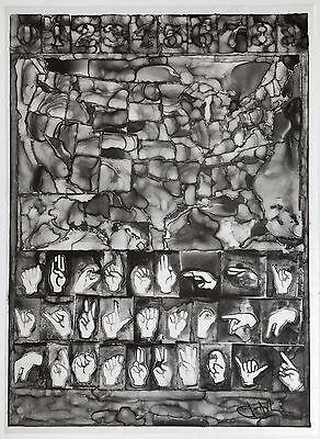 Jasper Johns Maps Numbers 2013 lithograph on vellum Framed JKLFA.com
