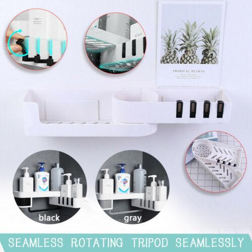 ABS nahtlose rotierende Stativ Badezimmer Regal Ecke Bad Lagerung Inhaber