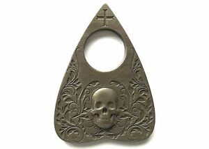 Planchette-with-Skull-design-in-Antique-Bronze-Finish-For-Use-With-Ouija-Board