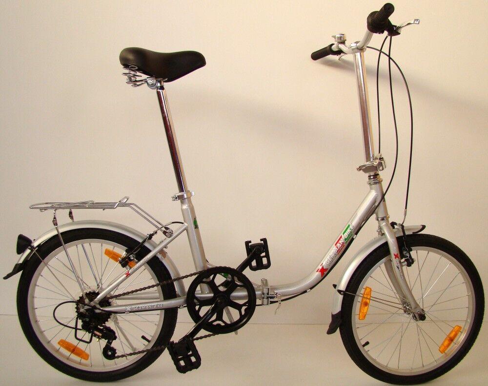 XGerman Bicicletta pieghevole COMFORT 20  6-velocità Shimano incl.