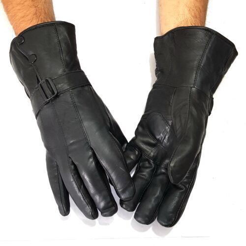 Long Real Leather Men/'s Gloves Leather Gloves Winter Men/'s Gloves