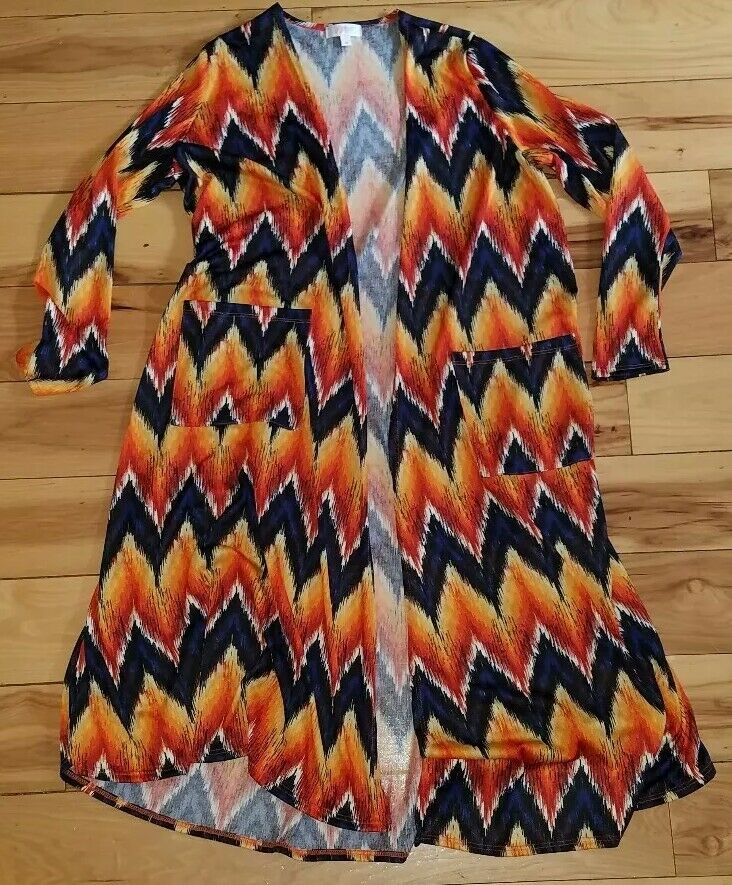 Womens Womens Womens Lularoe Sarah Cardigan colorful Nice Size Medium M 6f08d2