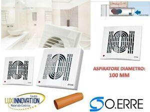 Aspiratore Da 10 Cm 100 Incasso Oerre Diametro Offerta Aspiratore Bagno Cucina Ebay