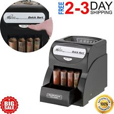 Electric Coin Sorter Change Money Cash Counting Counter Machine Anti Jam Roll