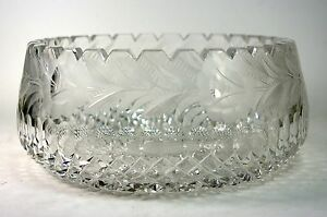 Cut-Crystal-Bowl-Etched-Flowers