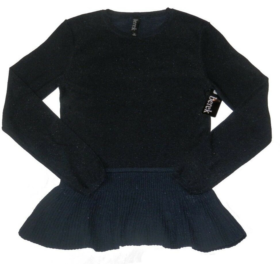 NWT - BEREK 'MIDNIGHT SPARKLE' F37410B SWEATER bluee SIZE  Medium