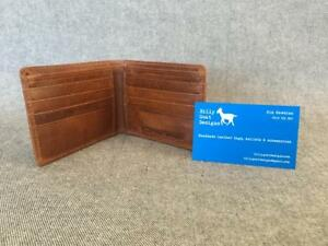Leather-wallet-bifold-waxed-buffalo-W2A-men-men-039-s-cash-card-Billy-Goat-Designs