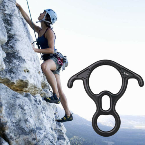 Details about  /50KN Figure 8 Ring Rope Descender Rock Climbing Rescue Rappelling Equipment USA