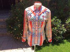 LA -1 Vintage Custom Show Seasons Colorful Plaid Ladies Western Blouse