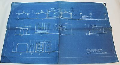 Its In The Bag 1944 Movie Set Design Concept Blueprint Gay Nineties Cafe Ebay