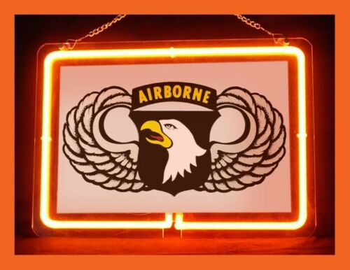 US Army Military 101st Airborne Hub Bar Display Advertising Neon Sign