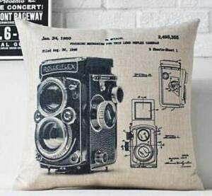Industrial Style Throw Pillows Vintage Rolleiflex Camera Design Ebay