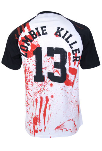 Horror Halloween ZOMBIE KILLER 13 BASEBALL T-Shirt Zombie Collection Goth