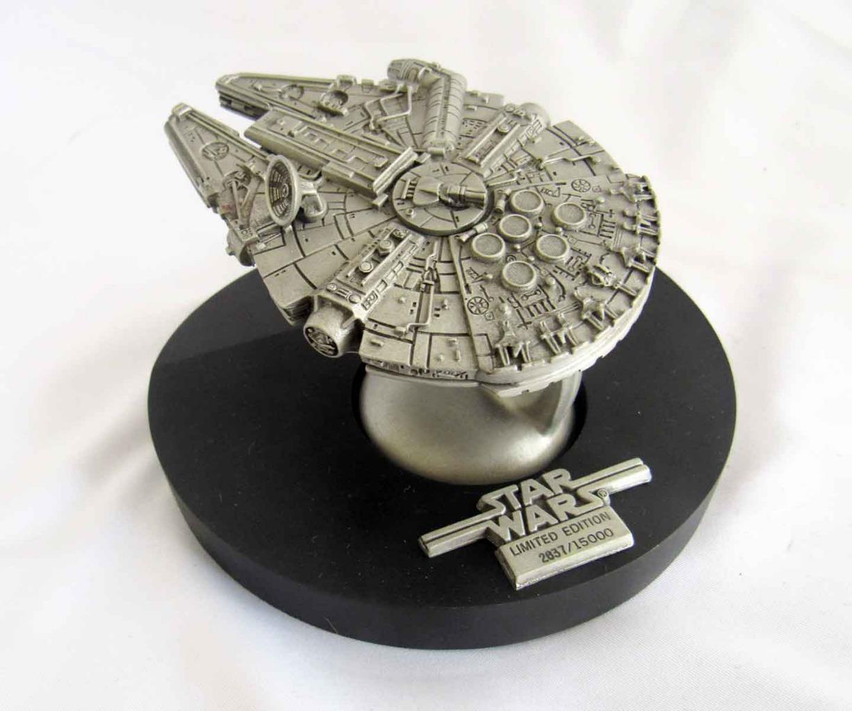 Vintage Star Wars Rawcliffe Fine Pewter Millennium Falcon RF951 -  2387 of 15000