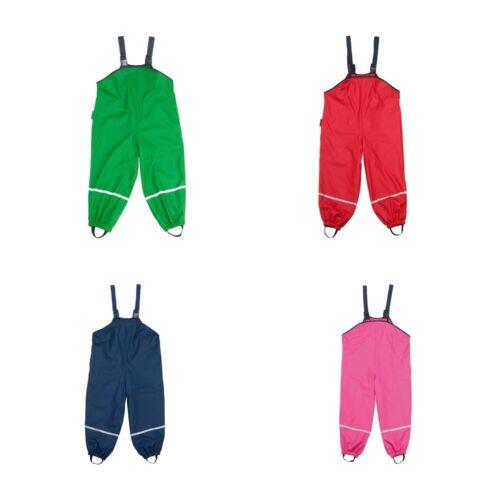 Playshoes Bambini Pioggia Pantaloni in Pile Foderati Con Spalline fanghiglia Buddel Pantaloni Pantaloni