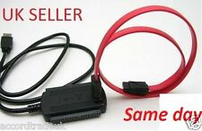 USB 2.0 to SATA/IDE Serial ATA HDD Adapter Cable Uk Seller
