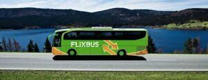 2 x Flixbus Freifahrten Gutschein 《auch mit Umstieg》