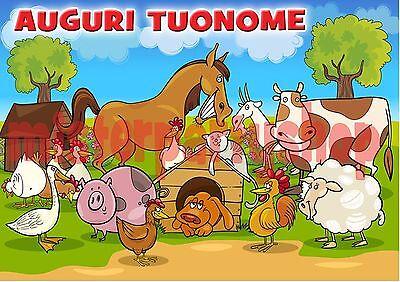 Ostia Per Torte Animali Fattoria M1 Formato Grande A3 Cm 42x29 Honest Cialda