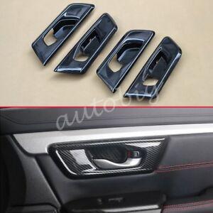 For Honda Crv 2017 2018 Interior Door Handle Surround Cover Carbon