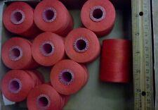 Vintage Neon Watermelon Colored Kismet Giant 2000 Yards Cotton Thread Spools