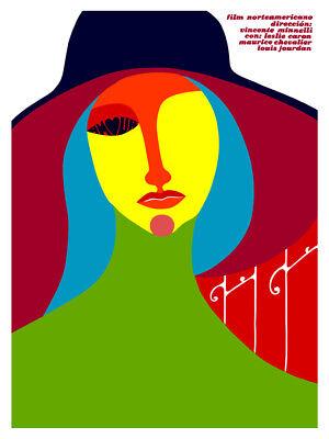 Movie Poster for american film GIGI.Colorful.Maurice Chevalier.Room art decor