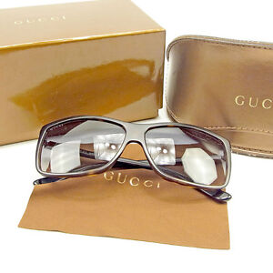 f941fe1fe02 Image is loading Gucci-sunglasses-Black-Brown-Woman-unisex-Authentic-Used-