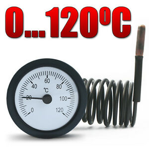 Tpm-03p-Analog-Thermometer-Remote-Thermometer-Round-With-Capillary-Tube-0-120-C