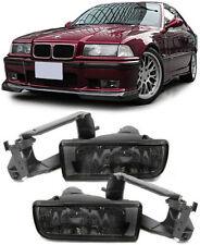 CRYSTAL SMOKED FOG LIGHTS + FITTING BRACKETS FOR BMW E36 3 SERIES H1 V2