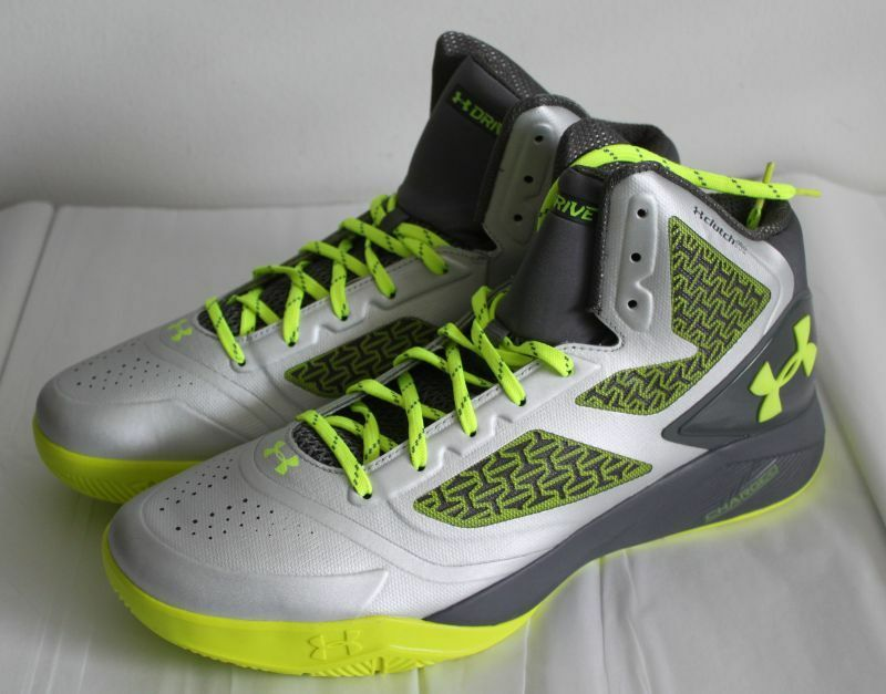 UNDER ARMOUR CLUTCHFIT DRIVE 2 uomo BASKETBALL SHOES SIZE 10 STEEL Scarpe classiche da uomo