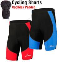 Mens Cycling Shorts MTB Cycle Bike Anti-Bac Quality CoolMax Padding - S-M-L-XL