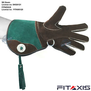 FITAXIS-Suede-Leather-Falconry-Glove-3-Layerd-Skinned-Bird-Eagle-Protector-NEW