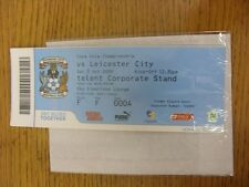 03/10/2009 BIGLIETTO: Coventry City V Leicester City (SKY creazioni Lounge). unles