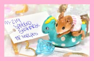 ❤️Wee Forest Folk M-219 Spotted Sea Horse Retired Teal Pink Striped Top WFF❤️