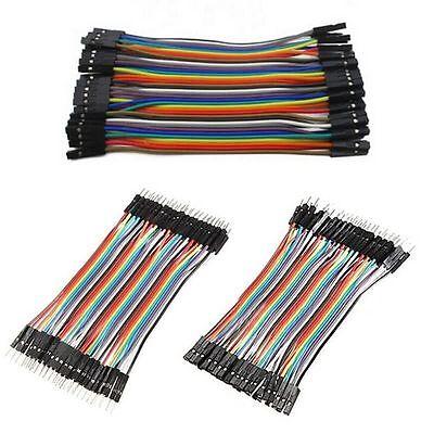 F-F Jumper Breadboard Wire GPIO Ribbon Pi Arduino 40 pcs Dupont Cables M-F M-M
