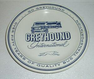 Greyhound-International-Plate-Vtg-Advertising-Blauw-Delft-Bus-Holland-9-5-034