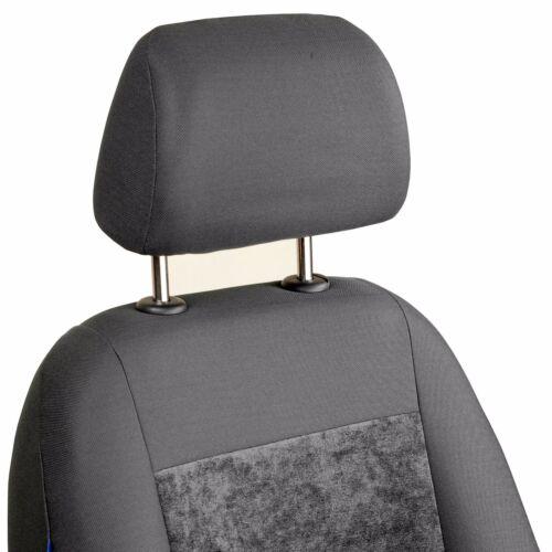 Grauer Velours Sitzbezüge für RENAULT TWINGO  Autositzbezug VORNE