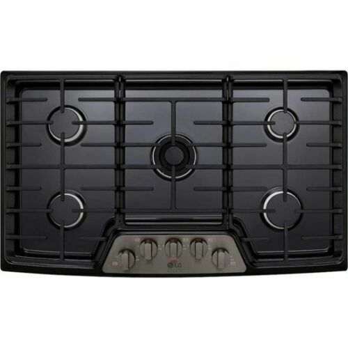 Continuous Grates and Stainless Steel DCS CDU-365-L 36 Gas Cooktop 5 Sealed Dual Flow Burners