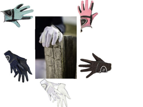HKM NEW FAUX LEATHER RIDING GLOVES SHOWING DRESSAGE JUMPING FREE DELIVERY