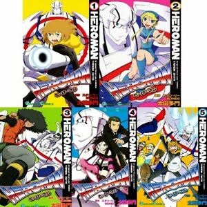 Manga-HEROMAN-VOL-1-5-Comics-Complete-Set-Japan-Comic-F-S