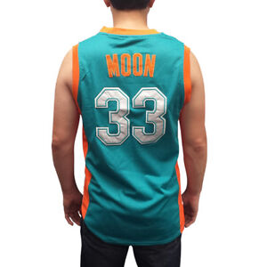 b0bc00583fc Image is loading Jackie-Moon-33-Flint-Tropics-Green-Basketball-Jersey-