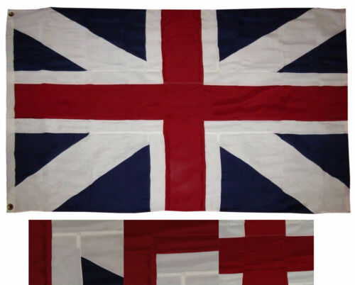 4x6 Embroidered Sewn Kings Colors Histroical 600D 2ply Nylon Flag 4/'x6/'