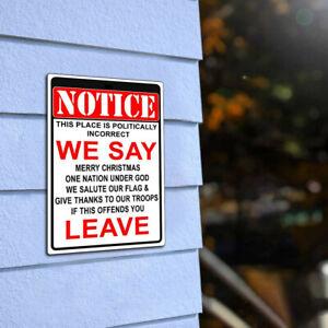 NOTICE-Sign-Warning-Politically-Incorrect-Flag-Plaque-Bar-Club-Wall-Decor-Art-US