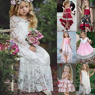 Ausdrucksvoll Mädchen Prinzessin Spitze Kleid Brautjungfer Party Hochzeit Festkleid Abendkleid Einfach Und Leicht Zu Handhaben