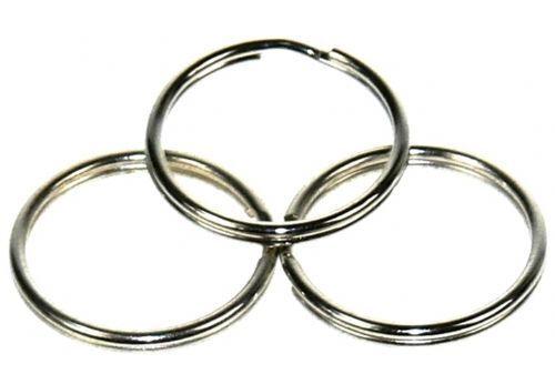 Findings Key Rings Superior Quality 25mm Nickel plated Steel Split Rings