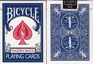 Maiden-Back-Blue-Bicycle-Playing-Cards-Poker-Size-Deck-USPCC-Custom-Limited-New