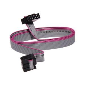IDC-2x5-10-Polig-Verbindungskabel-30cm-80cm-Buchse-Flachbandkabel-Kabel-AVR