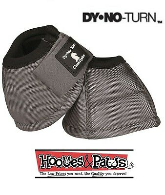 Classic Equine DYNOHYDE 2520D No Turn Bell Boots Steel Grey Gray Horse Tack