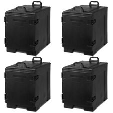 Costway 4pcs End Loading Insulated Food 5 Pan Carrier Hot Cold Capacity Withhandle